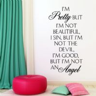 I'm Pretty ~ Wall sticker Quote / decals